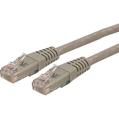 StarTech.com® C6PATCH3GR 3' Cat 6 Molded Patch Cable, Grey