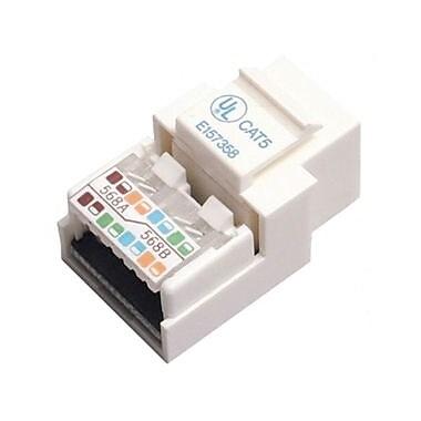 Startech.Com® Cat5E Modular Keystone Jack White, Tool-Less