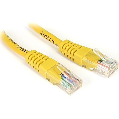 StarTech.com® M45CROSS1YL 1' Cat 5e Crossover Molded Patch Cable, Yellow