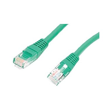 StarTech.com® M45PATCH10GN 10' Cat 5e Molded Patch Cable, Green