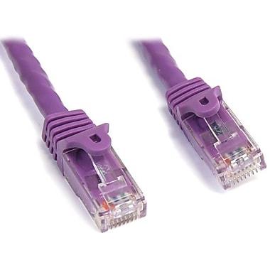 StarTech.com® N6PATCH10PL 10' Cat 6 Snagless Patch Cable, Purple