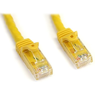 StarTech.com® N6PATCH10YL 10' Cat 6 Snagless Patch Cable, Yellow