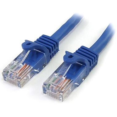 StarTech.com® RJ45PATCH12 12' Cat 5e Snagless Patch Cable, Blue