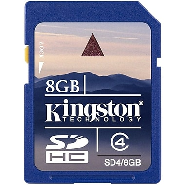Kingston 8GB Secure Digital High Capacity (Sdhc) Card, Class 4
