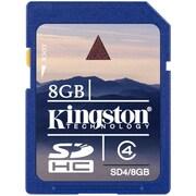 Kingston 8GB Secure Digital High Capacity (Sdhc) Card, Class 4