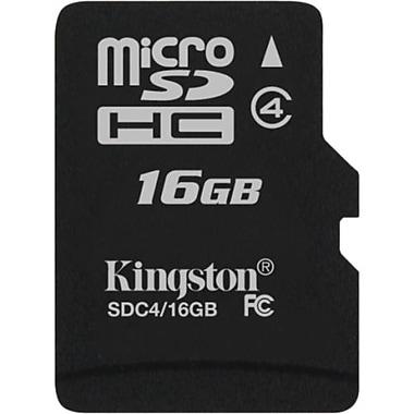 Kingston – MicroSD haute capacité (MicroSDHC) SDc4/16Go SP de 16 Go