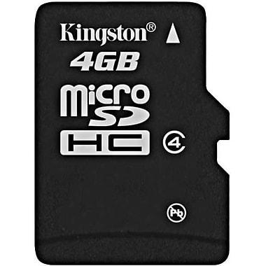Kingston – Carte MicroSD haute capacité (MicroSDHC) de 4 Go, Classe 4