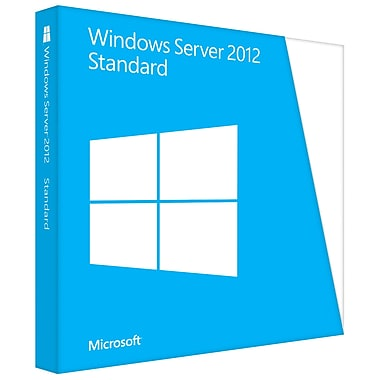 Microsoft Windows Server 2012 Standard 64-Bit, License And Media, 2 Processor