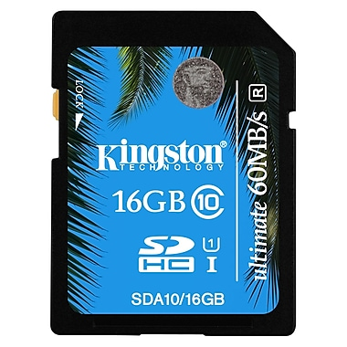 Kingston – Carte mémoire Secure Digital haute capacité (SDHC) Ultimate de 16 Go