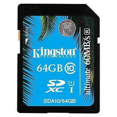 Kingston – Carte mémoire Secure Digital haute capacité (SDHC) Ultimate de 64 Go