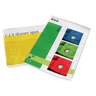FellowesMD – Pochettes lustrées, menu, 3 Ml, 25/paquet
