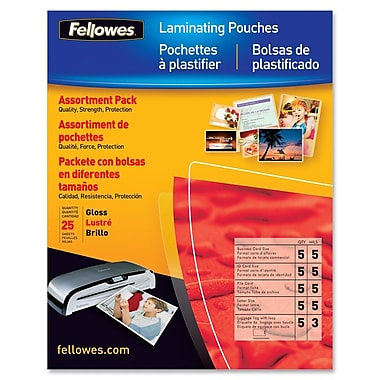Fellowes Laminating Pouch, 25/Pack