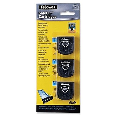 Fellowes Safecut Rotary Trimmer Blade Kit, 3 Pk Assorted