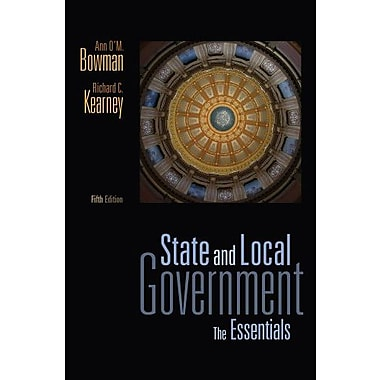State and Local Government: The Essentials, New Book, (9781111341497)
