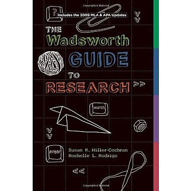 Wadsworth Guide to Research, Documentation Update Edition, Used Book, (9781111345488)