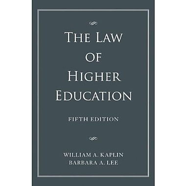 The Law of Higher Education, 2 Volume Set, Used Book, (9781118032015)