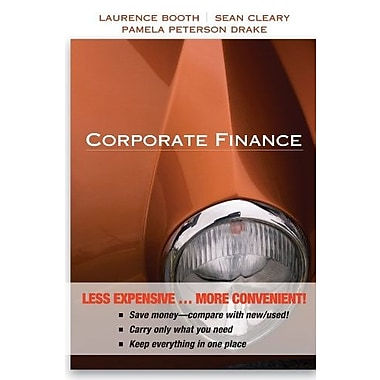 Corporate Finance, New Book, (9781118129364)