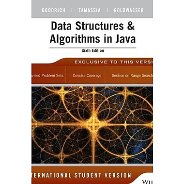 Data Structures and Algorithms in Java 6th Edition International Student Version, New Book, (9781118808573)