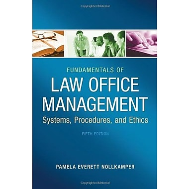 Fundamentals of Law Office Management, New Book, (9781133280842)