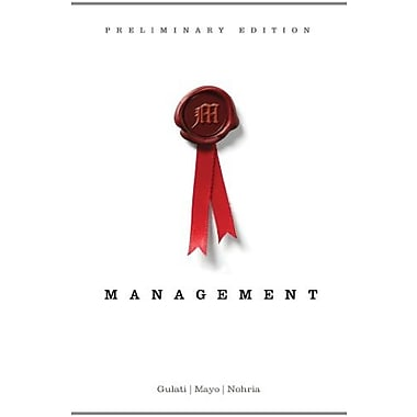 Management, Preliminary Edition (New 1st Editions in Management), New Book, (9781133626701)