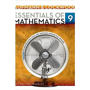 Essentials of Mathematics: An Applied Approach, New Book, (9781133734147)
