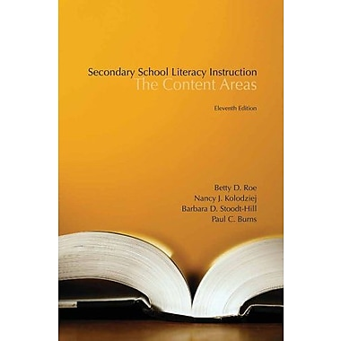 Secondary School Literacy Instruction, New Book, (9781133938965)