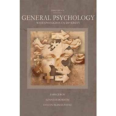 General Psychology with Spotlights on Diversity (3rd Edition), New Book, (9781256366720)