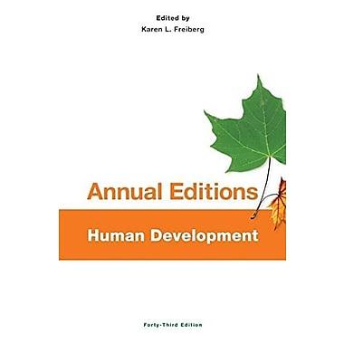 Annual Editions: Human Development, 43/e, New Book, (9781259175435)