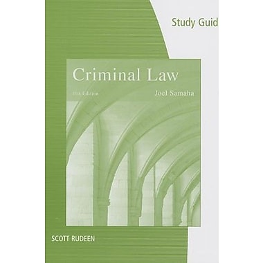 Study Guide for Samaha's Criminal Law, 11th, New Book, (9781285062204)