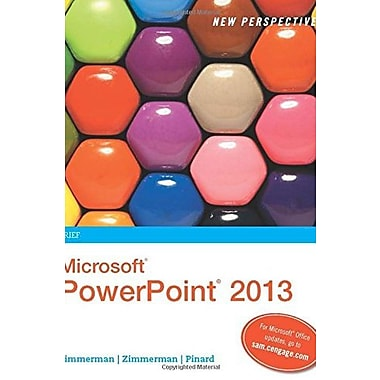 New Perspectives on Microsoft PowerPoint 2013, Brief, New Book, (9781285161860)