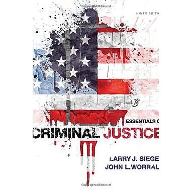 Essentials of Criminal Justice, Used Book, (9781285441528)