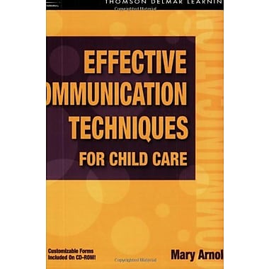 Effective Communication Techniques for Child Care, New Book, (9781401856830)