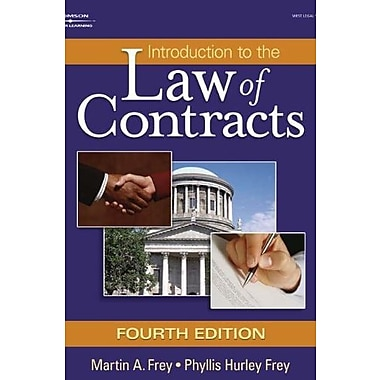 Introduction to the Law of Contracts (West Legal Studies), Used Book, (9781401864712)