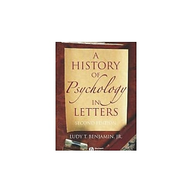 A History of Psychology in Letters, New Book, (9781405126120)