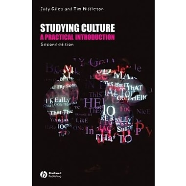 Studying Culture: A practical Introduction, New Book, (9781405155922)
