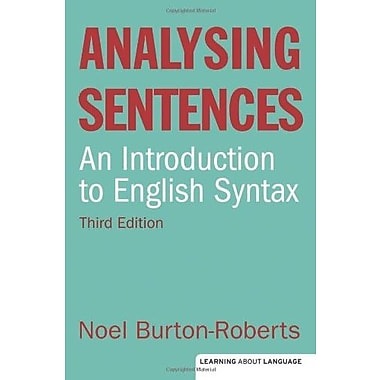 Analysing Sentences, New Book, (9781408233740)