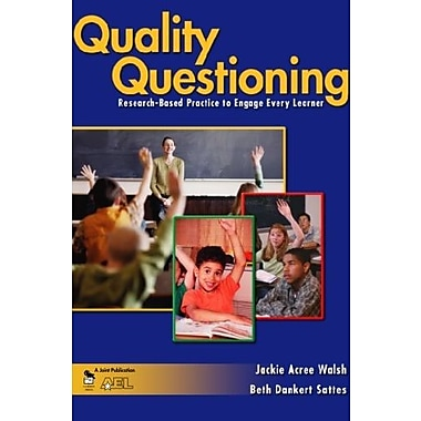 Quality Questioning: Research-Based Practice to Engage Every Learner, New Book, (9781412909860)