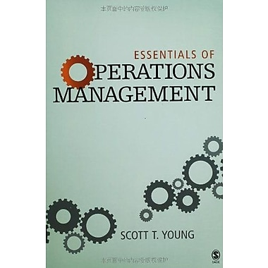 Essentials of Operations Management, New Book, (9781412925709)