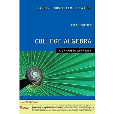 College Algebra: A Graphing Approach, Enhanced Edition (with Printed Access Card), New Book, (9781439043806)