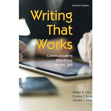 Writing That Works: Communicating Effectively on the Job, 11th Edition, New Book, (9781457611131)