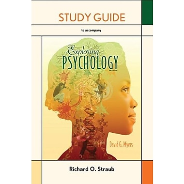 Study Guide for Exploring Psychology, New Book, (9781464108365)