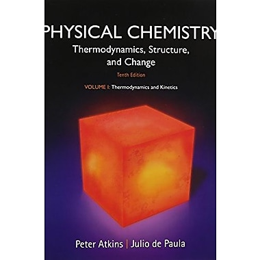Physical Chemistry, Volume 1: Thermodynamics and Kinetics, New Book, (9781464124518)