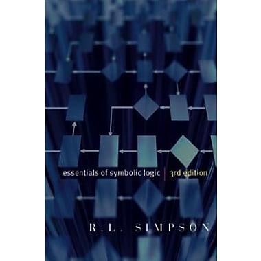 Essentials of Symbolic Logic, third edition, Used Book, (9781551118932)