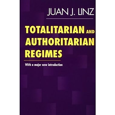 Totalitarian and Authoritarian Regimes, New Book, (9781555878900)