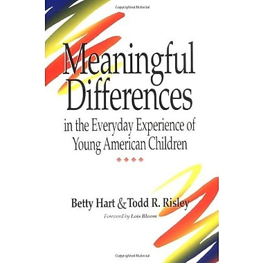 Meaningful Differences in the Everyday Experience of Young American Children, New Book, (9781557661975)