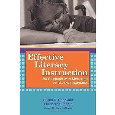 Effective Literacy Instruction for Students with Moderate or Severe Disabilities, New Book, (9781557668370)
