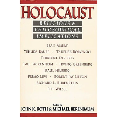 Holocaust: Religious and Philosophical Implications, New Book, (9781557782120)