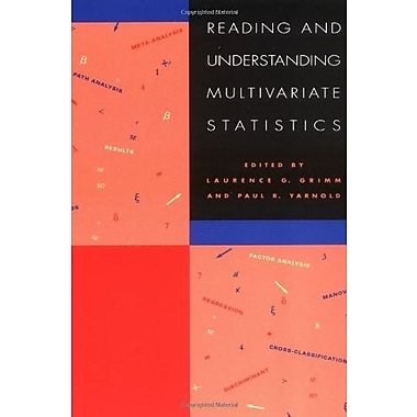 Reading & Understanding Multivariate Statistics, New Book, (9781557982735)