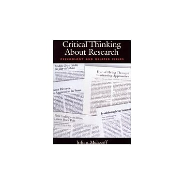 Critical Thinking About Research: Psychology and Related Fields, New Book, (9781557984555)