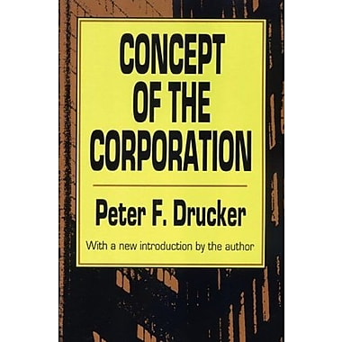 Concept of the Corporation, New Book, (9781560006251)